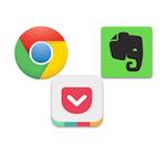 iOSで情報収集が10倍捗る、Chrome→Pocket→Evernoteの連携ワザ