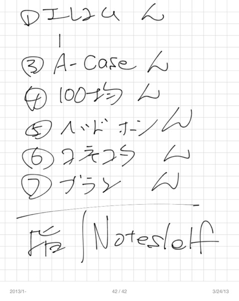 Noteshelfで書いてみた