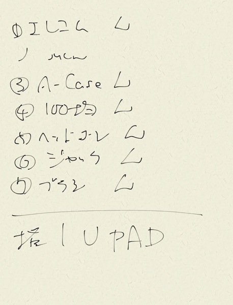 UPADで書いてみた