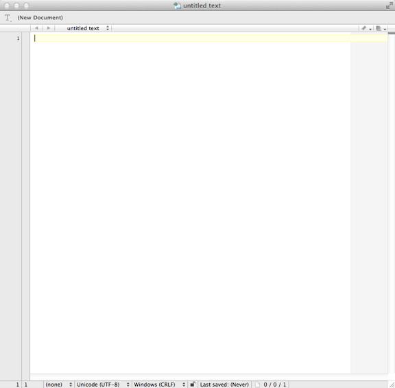 Textwrangler起動画面