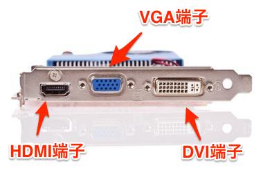 HDMIとVGAとDVIの端子