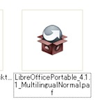 LibreOffice Portableのインストール実行ファイル