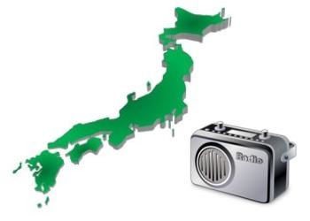 日本地図とラジオ