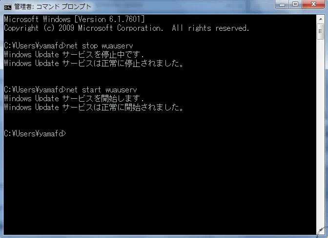 WindowsUpdateエラーの解決手順07