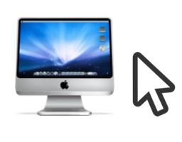 iMacとマウスのカーソル