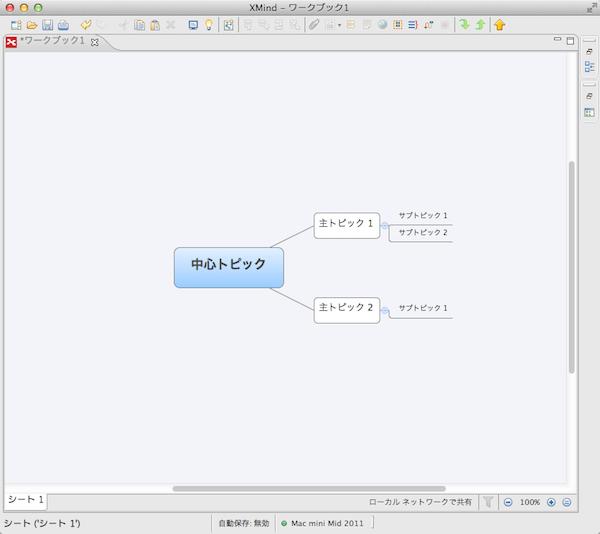 xMindの作図例